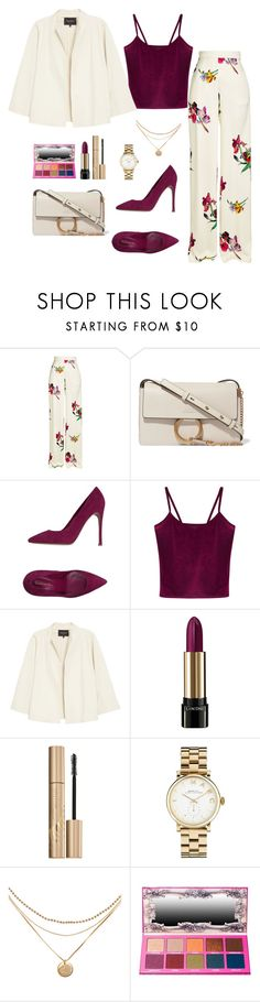 """Untitled #311"" by bajka2468 on Polyvore featuring Etro, Chloé, Gianvito Rossi, WithChic, Lafayette 148 New York, Lancôme, Stila and Marc by Marc Jacobs"