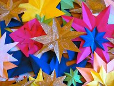 A Patchwork Life: Simple paper stars
