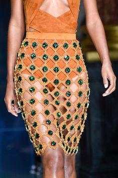 Balmain, Spring 2016 - The Prettiest Runway Details of Spring 2016 - Photos