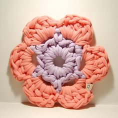 crocheted cotton hot pad
