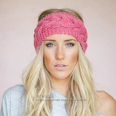 23 Colors Knitted Turban Headbands For Women Winter Warm Crochet Headband Head Wrap Wide Ear Warmer Hairband Hair Accessories