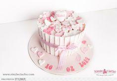 Serduszka, chrzest, tort serduszkowy, różowy tort, serca na torcie, tort na chrzest, przyjęcie chrzcielne, tort chrzcielny, dzidziuś