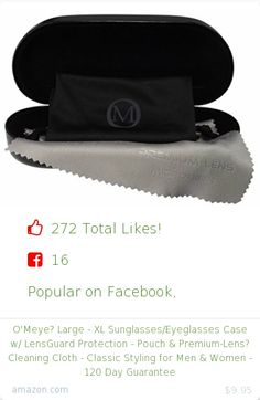 Top christmas gift on Facebook.  Top christmas gift on undefined 272 people likes on Internet. 256 thumbs-up on .undefined o'meye amazon christmas gift. o'meye%3F large xl sunglasses eyeglasses case w lensguard protection pouch and premium lens%3F cleaning cloth classic styling for men and women 120 day guarantee from amazon christmas gifts…