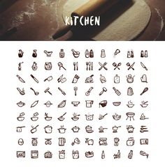Tasty Icons  — 500 hand-drawn food icons: Kitchen Icons