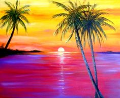 oil paintings of sunsets - Google Search