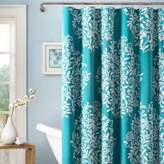 Love this curtain! But not sure if it would work with a wa pattern....  Folklore 72-Inch x 72-Inch Shower Curtain - BedBathandBeyond.com