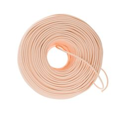 Premium quality cloth covered wire in Peach sold by the foot. Fabric covered wire for DIY lighting projects for pendant lights, lamps and sconces.
