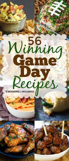 56 Winning Game Day Recipes What do people look forward to besides the game? Oh the food, the glorious food! That is why I have for you today, 56 Winning Game Day Recipes! Game Day Appetizers, Game Day Snacks, Game Day Food, Appetizer Recipes, Game Day Recipes, Dessert Recipes, Healthy Superbowl Snacks, Tailgating Recipes, Grilling Recipes