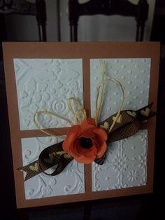 Tarjeta scrap flor