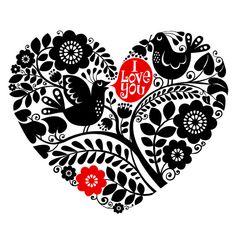 Uccelli in carta di giorno di San Valentino di cuore di kenguroo