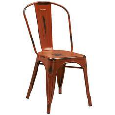 "Varick Gallery Sigler 33.5"" Side Chair Finish: Orange"