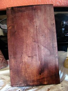 Dye wood with Rit Dye - once dry, apply clear sealer