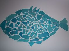 made this with sea glass....just need to glue it down!