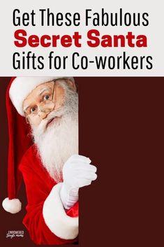Best Secret Santa Gifts, Secret Santa Gift Exchange, Single Parent Families, Office Christmas Party, Single Parenting, Office Gifts, Stocking Stuffers, Workplace, Budget