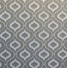 When we first wrote about this back painted glass tile by Edgewater Studio in they only had one or two designs, but the tile got quite an attention Moroccan Design, Moroccan Decor, Moroccan Style, Moroccan Print, Modern Moroccan, Back Painted Glass, Arabesque Tile, Shower Tile Designs, Colores Paredes