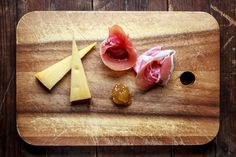Serrano, Gouda & Fig Jam - One of my favourite food combinations: Jamon Serrano or cheese with fig jam. Yumm!