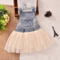 8f2417b6684 Fashion Summer Lace Denim Patch Baby Girl Dress Children Party Frock B – Noah s  Boytique Girls