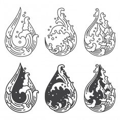 Illustration about Oriental water wave in droplet shape frame icon. A tradional style of Japanese, Thai, Chinese line art. design on white background. Illustration of craft, graphic, craftsmanship - 142535447 Japanese Tattoo Art, Japanese Art, Japanese Takeaway, Japanese Water Tattoo, Japanese Waves, Tattoo Drawings, Art Drawings, Wave Drawing, Japon Illustration
