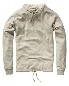 Windbreaker sweater - Sweats - Scotch & Soda Online Shop I want it! Henley Shirts, Polo T Shirts, Men's Wardrobe, Western Shirts, Swagg, Nice Tops, Shirt Style, Cool Outfits, Men Sweater