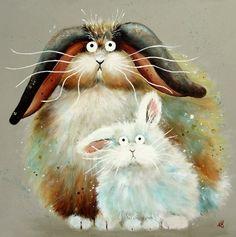 kim haskins art | ... от Ким Хаскинс Kim Haskins, пучеглазые коты