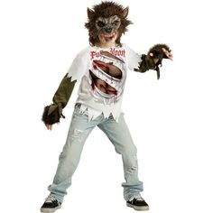 Kids Wolf Costumes for Boys and Girls. Scary werewolf costumes and cute u0027Big Bad Wolfu0027 costumes. | Halloween | Pinterest | Kids wolf costume Big bad wolf ...  sc 1 st  Pinterest & Kids Wolf Costumes for Boys and Girls. Scary werewolf costumes and ...