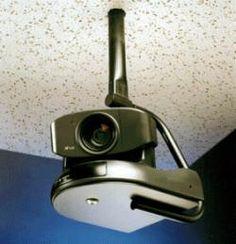 Black Ceiling Mount for PTZ Cameras:  EVI-D70, EVI-D70P, EVI-D70W