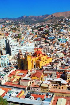 The most beautiful place in Mexico is Guanajuato. This colourful city is located in the mountains and provides spectacular views no matter where you are.