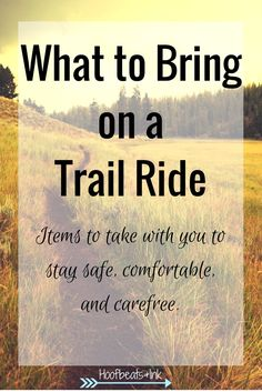 Headed out on the trail with your horse? Don't forget these items! Via Hoofbeats and Ink Horse Camp, My Horse, Horse Love, Trail Riding Horses, Horseback Riding Tips, Horse Riding, Horse Care Tips, Horse Training Tips, Horse Quotes