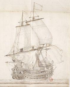 """""""Royal Louis""""  1667 De Koninklijke Louis was een schip van de lijn van de Franse Royal Navy.  Ze werd gebouwd in Toulon tussen 1666 en 1670 onder leiding van Rodolphe Gédéon en diende als vlaggenschip van de Franse vloot in de Middellandse Zee.  Ze werd verkocht in 1694."""