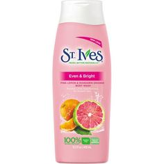 St Ives Even & Bright Body Wash, Pink #lemon  and Mandarin #orange  13.5 oz Polishes little imperfections for radiant skin 100% natural exfoliant Paraben free Made with natural #ingredients  Dermatologist tested and #hypoallergenic