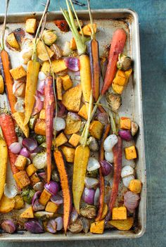 Balsamic Roasted Fall Vegetables with Sumac - BoulderLocavore.com #gluten-free