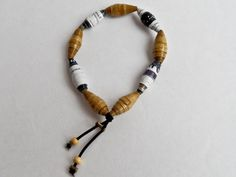 Brown Tone Paper Bead Bracelet Beaded Necklace, Beaded Bracelets, Toned Paper, Paper Beads, Brown, Jewelry, Beaded Collar, Jewlery, Pearl Necklace