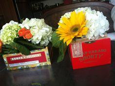 Cigar Centerpieces for Cuban Themed BDay Party