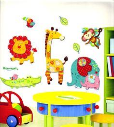 wall sticker ANIMALI DELLA SAVANA cm 42x29