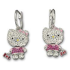 Swarovski Hello Kitty Earrings <3 Elton got me these for our anniversary last year <3