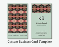 Business Card Template, Calling Cards, Custom Business Cards, Vertical Business Card Template, Business Card Design  #teampinterest