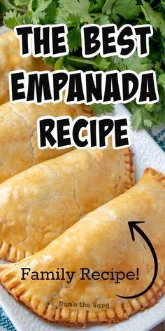 Spanish Empanadas Recipe, Empanadas Recipe Dough, Empanada Dough, Easy Apple Empanadas Recipe, Cuban Beef Empanadas Recipe, Pie Dough Recipe Easy, Empenada Recipe, Baked Empanadas, Dining