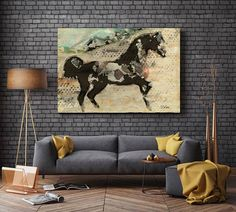 Wild Horse. Extra Large Horse Unique Horse Wall Decor Brown