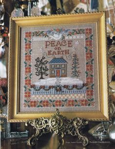 CCS  Peace On Earth Christmas Cross Stitch by BusyBeaverBoutique