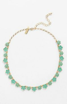Adore the pretty petite green flowers on this Kate Spade necklace.