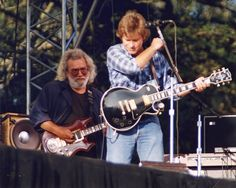 Jerry Garcia and John Fogerty at the tribute for Bill Graham