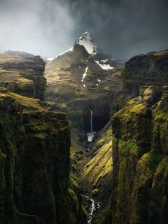 A world in which elves exist and magic works - Múlagljúfur Canyon, Iceland. BY Arnar Kristjansson, - Nature/Landscape Pictures Photography Words, Nature Photography, Travel Photography, Indian Photography, Landscape Pictures, Nature Pictures, Monte Fuji Japon, Iceland Photos, Image Nature