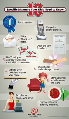 10 Manners Your Kids Need to Know (infographic) | All Pro Dad