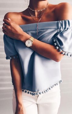Photo Summer perfection pale blue obsession from 40 Summer Outfits: What To Wear In Weather Mode Outfits, Casual Outfits, Fashion Outfits, Night Outfits, Women's Casual, Fashion Boots, Fashion Mode, Womens Fashion, Fashion Trends