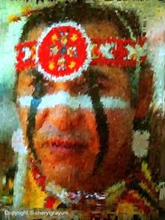 American Indian Painted Faces Series by Cowgirl111, via Flickr