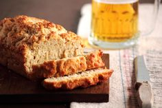 Beer bread. made this last night with coors light, which I am not a fan of, and it was delicious. Can't wait to try it with blue moon or abita purple haze.