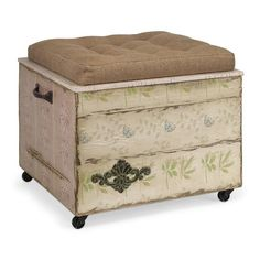 Evelyn Crate Storage Ottoman