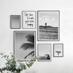 Gallery Wall Set of 6 Prints Black and White Art Poster, Surf Poster Print Wall Decor Living Room, Affordable Wall Art Set Inspiring Prints Gallery Wall Layout, Gallery Wall Frames, Art Gallery, Wall Prints, Poster Prints, Affordable Wall Art, Kunst Poster, Inspiration Wall, Wall Art Sets