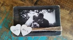Mr.and Mrs. rustic photo frame rustic by whatsyoursigndesigns
