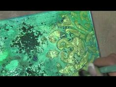 Mixed Media Canvas Tutorial - Lindy's Stamp Gang - this is gorgeous! Mixed Media Techniques, Mixed Media Tutorials, Art Journal Techniques, Art Tutorials, Mixed Media Artwork, Mixed Media Collage, Mixed Media Canvas, Altered Canvas, Altered Art